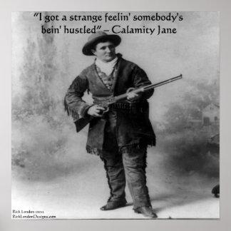 Calamity Jane y su poster famoso de la cita