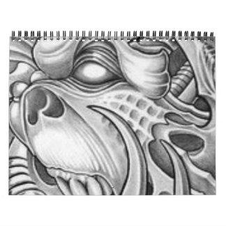 calandar tattoo design RITON TATTOO Calendar