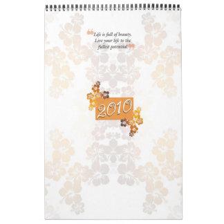 Calander 2010 : Life is full of beauty. Calendar