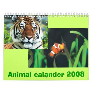 Calander animal 2008 calendarios