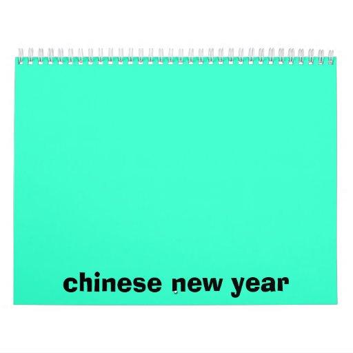 calander chino del Año Nuevo Calendario