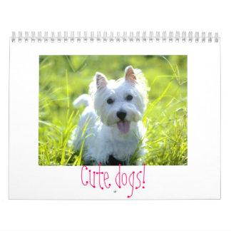"""¡Calander de los """"perros lindos""""! Calendarios De Pared"""