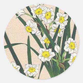 Calander floral de Japón Kawarazaki Shodo Japón Pegatina