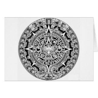 Calander maya tarjeta de felicitación