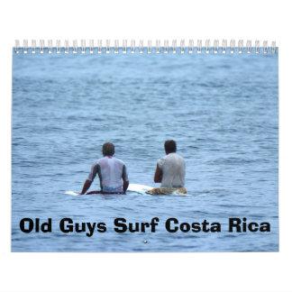 Calander, vieja resaca Costa Rica de los individuo Calendario