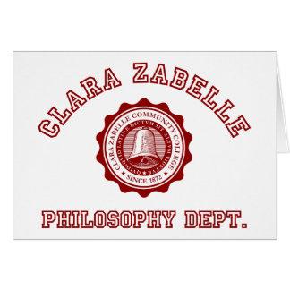Calara Zabelle College Crest Card