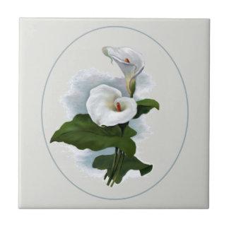 Calas blancas elegantes azulejo cuadrado pequeño