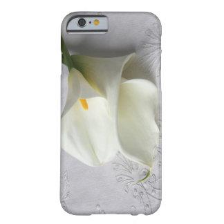 calas blancas en el caso de lino de la funda de iPhone 6 barely there