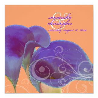 Calas de PixDezines/diy púrpuras Invitación 13,3 Cm X 13,3cm