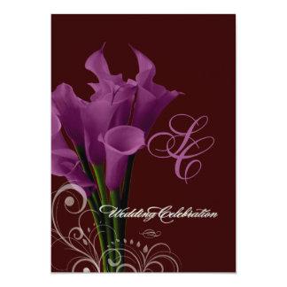Calas de PixDezines/diy púrpuras Invitación 12,7 X 17,8 Cm