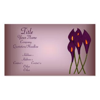 Calas (púrpuras) tarjetas de visita