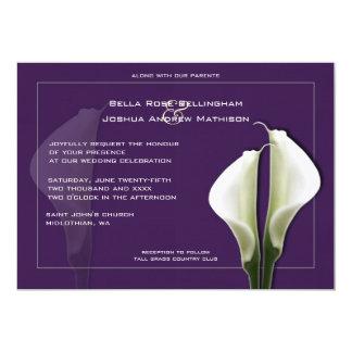 Calas que casan la invitación en púrpura