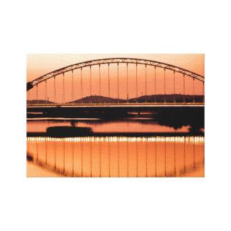 Calatrava's bridge in Merida Canvas Print