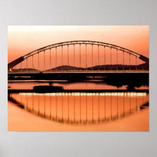 Calatrava's bridge in Merida Poster