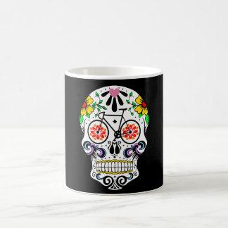Calavera - bici del cráneo del azúcar taza