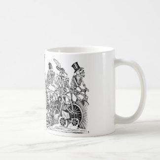 Calavera Bicyclists circa late 1800 s Mexico Coffee Mug
