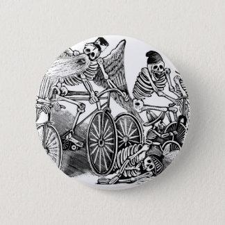 Calavera Bicyclists circa late 1800's Mexico Button