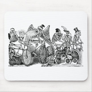 Calavera Bicyclists circa late 1800's Mexico Mouse Pad