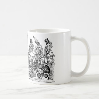 Calavera Bicyclists circa late 1800's Mexico Coffee Mug