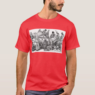 Calavera Bicyclists circa late 1800's Mexico T-Shirt