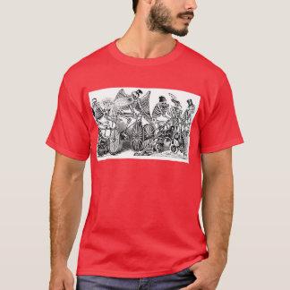 Calavera Bicyclists circa late 1800's Mexico T-Shirt