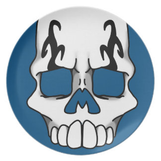 Calavera (Blue) Plate