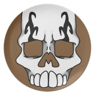Calavera (Brown) Plate