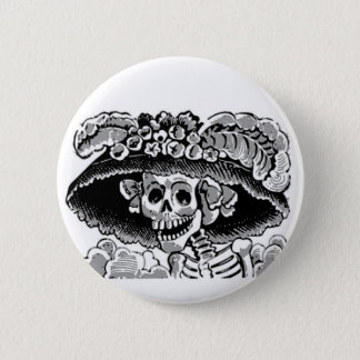 Calavera Catrina original Button