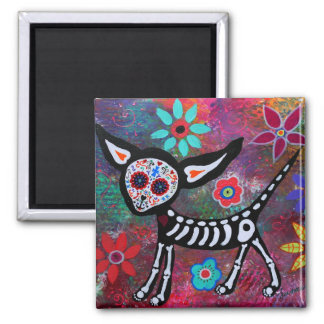 Calavera chihuahua Day of the Dead Magnet