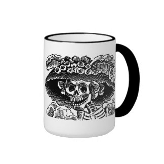 Calavera Couple Ringer Coffee Mug