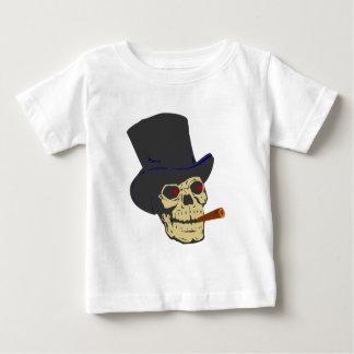 Calavera cráneo cigarro skull cigar playera de bebé