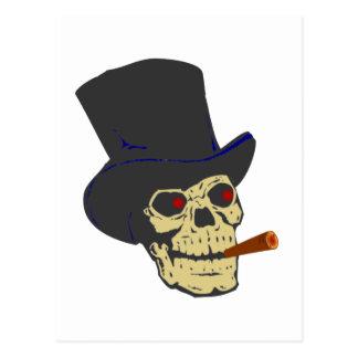 Calavera cráneo cigarro skull cigar postal