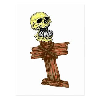 Calavera cráneo cruz skull cross postales