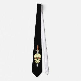 Calavera cráneo espada skull sword corbatas personalizadas