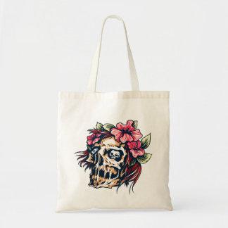 Calavera cráneo flor skull flowers bolsa tela barata