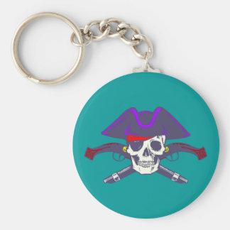 Calavera cráneo pirata skull pirate llavero redondo tipo pin