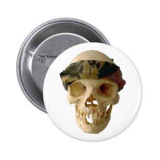 Calavera cráneo skull grupo de frente headband pin redondo de 2 pulgadas