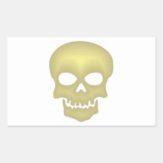 Calavera cráneo skull pegatina rectangular