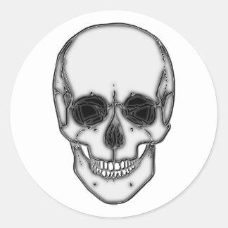 Calavera cráneo skull pegatina redonda