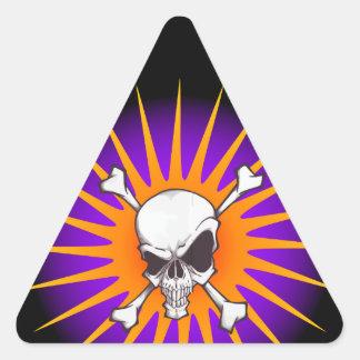 Calavera cráneo skull pegatina triangular