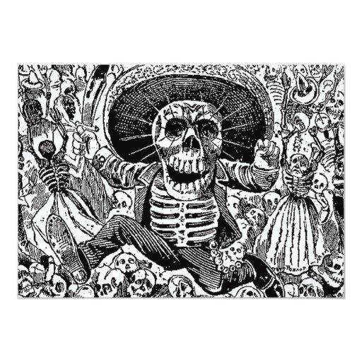 Calavera Day of the Dead 5x7 Paper Invitation Card