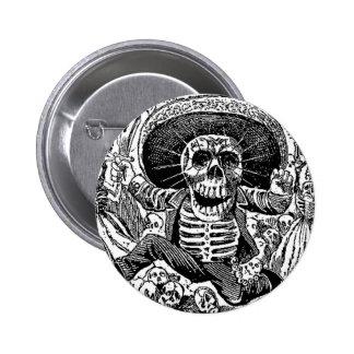 Calavera Day of the Dead Pinback Button