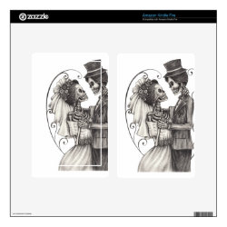 Calavera Day of the Dead Drawing Bridegroom Decal For Kindle Fire