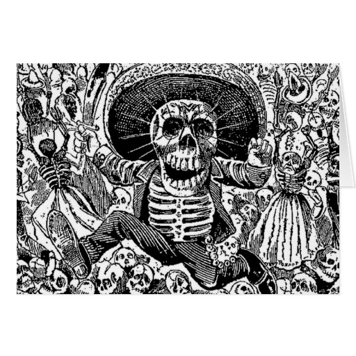 Calavera Day of the Dead Greeting Card