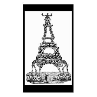 Calavera de la torre Eiffel C. último 1800's Tarjetas De Visita