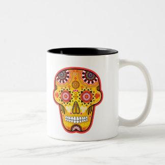Calavera de los Muertos 2 Two-Tone Coffee Mug