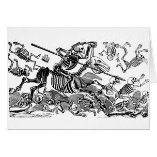 """Calavera del Don Quijote"" circa 1900's temprano Tarjeta De Felicitación"