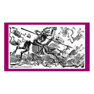 """Calavera del Don Quijote"" circa 1900's temprano Plantilla De Tarjeta Personal"