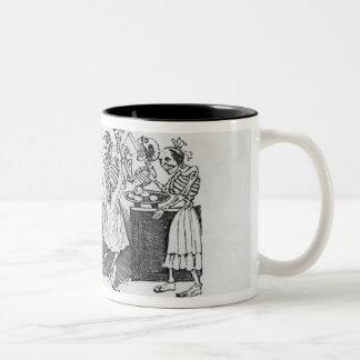 Calavera du jarabe d'outretombe' Two-Tone coffee mug