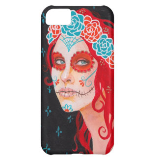 Calavera Girl with Red Hair iPhone 5C Covers